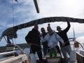 The winning crew on boat Bura with skipper Miro Volaric