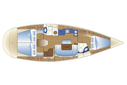 Bavaria 42 cruiser charter Kroatien
